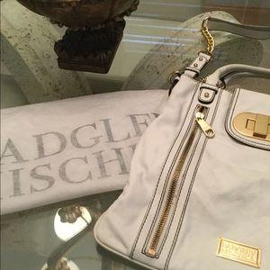 Badgley Mischka,  off white leather purse.
